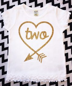 Second Birthday Shirt Choose Color Baby Girl Glitter Birthday Outfit Toddler Girls Gold Sparkle Top Two Years Old 2nd Birthday Party
