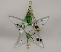 fused glass images | Fused Glass Christmas Star Tree Ornament or Suncatcher by BigSky
