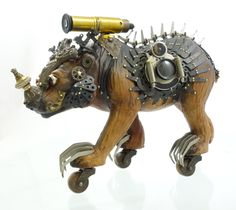 """""""Bestow the Bearskin"""" found object assemblage by Assemblique™"""