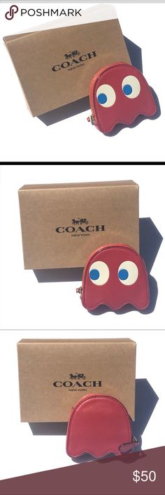 COACH Authentic Emoji Fun Coin Case Pouch Choose From Styles Listed NWT