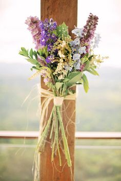 Flowers & Decor, Destinations, Real Weddings, Wedding Style, purple, Australia, Ceremony Flowers, Spring Weddings, Spring Real Weddings, Vin...