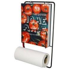 Koken betekent vaak een beetje knoeien! Daarom is het Puhlmann Kookboekrek en de Keukenrolhouder zo'n handige toevoeging aan de keuken! Zet je kookboek erin, hang er een keukenrol aan en je kunt de bladzijden met schone handen omslaan. Koken maar!