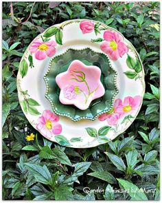 Desert Rose Plate Flower Garden Stake As by GardenWhimsiesByMary, $35.00