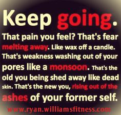 Keep going at it every day.  The small changes will be huge changes in the future. www.ryanwilliamsfitness.com