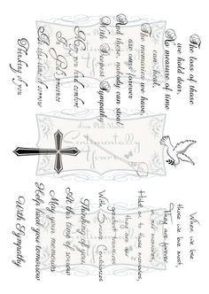 Words Of Comfort Verse Collection - A5 Stamp Set