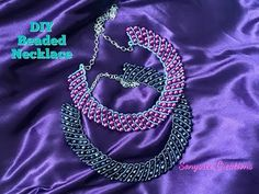 How to make beaded DIY Beaded Necklace - YouTube