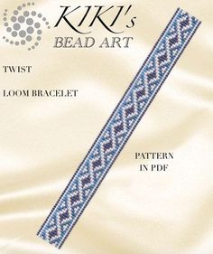 Bead loom pattern  Twist geometric LOOM bracelet by KikisBeadArts