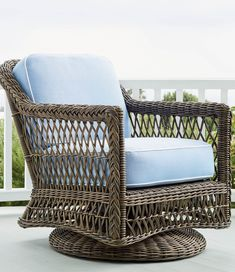 Our Hampton Seating Collection has a relaxed, southern attitude, intricately handwoven in driftwood-weathered resin wicker. Unwind in a choice of seats, all softened with thick, all-weather seat and back cushions. Smoothly woven tables are the perfect finish.