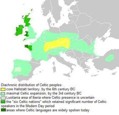 Celtic peoples distribution