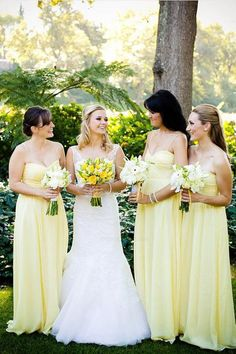 4a7fbb20eb The top 10 pale yellow bridesmaid dresses images