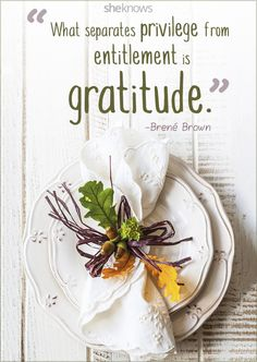Lovely gratitude quote for Thanksgiving