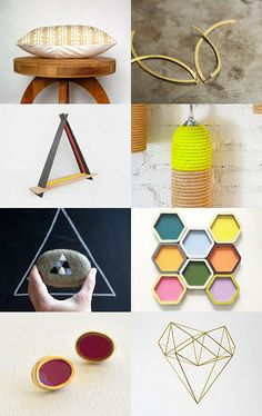 Geometric Honeycomb by Tami Rodrig on Etsy--Pinned with TreasuryPin.com