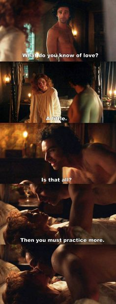 """""""What do you know of love?"""" - Mr and Mrs #Poldark"""