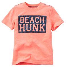 Carter's Toddler Boys' Beach Hunk T-Shirt - Shirts & Tees - Kids . Vinyl Shirts, Boys T Shirts, Tee Shirts, Custom Shirts, Toddler Beach, Toddler Boys, Beach Shirts, Summer Shirts, Toddler Outfits