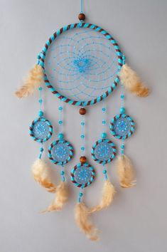 Blue Wall Dream Catcher in Nautical Style - Gift Idea for Mother's Day and Housewarming Party Dream Catcher Decor, Dream Catchers, Safari Thema, Boho Wedding, Dream Wedding, Nautical Wedding, Wedding Decor, Baby Elefant, Diy And Crafts