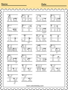 Printable Tracing Alphabet Letters Handwriting Worksheets #PrintableTracing tracing alphabet letters #kids tracing #tracingletter #tracinglettersworksheets #tracinglettersactivities #worksheet #printable #education #letter Printable Handwriting Worksheets, Letter Tracing Worksheets, Tracing Letters, Alphabet Letters, Verbal Cues, Connect The Dots, Effective Communication, Phonics, Teaching Kids