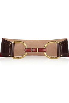 Alexander McQueen Two-tone leather waist belt | THE OUTNET