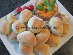 schnelle softe Pizza-Mini-Brötchen | kochen & backen leicht gemacht mit Schritt für Schritt Bilder von & mit Slava