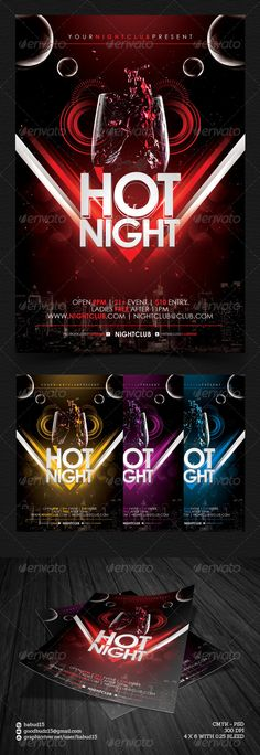 Hot Night Flyer Template. Download here : http://graphicriver.net/item/hot-night-flyer-template/4662417 #fullcolor #hotnight #flyer #design