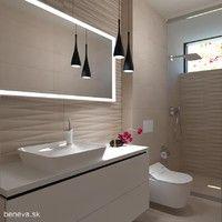 MALÉ KÚPEĽNE - Riešenia & Dizajn / BENEVA Bathroom Lighting, Mirror, Furniture, Home Decor, Bathroom Vanity Lighting, Mirrors, Home Furnishings, Interior Design, Home Interiors