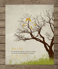 Hey, I found this really awesome Etsy listing at https://www.etsy.com/listing/184033782/50th-wedding-anniversary-gift-print