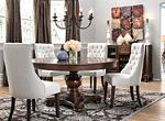 """Raymour Flanigan """"Fallon"""" Dining Set New MINT Condition - Local Pickup Only Dining Sets Modern, Modern Glass Dining Room, Round Dining Set, Microfiber Sectional Sofa, Round Dining Room Table, Home Decor, Dining, Round Dining Room Sets, Dining Room Sets"""