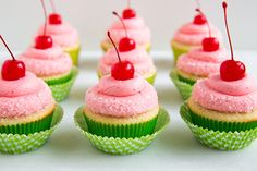 Cherry Limeade Cupcakes... 25 Amazing Cupcakes You Need To Make This Summer