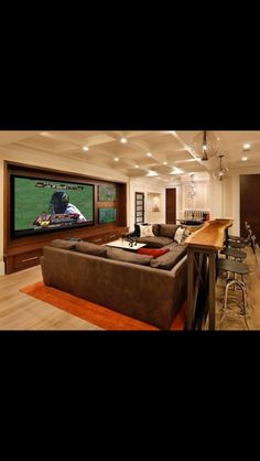 Beautiful Finished Basement Home theater