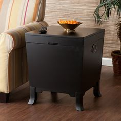 Accent tables on pinterest accent tables end tables and for Hidden storage side table