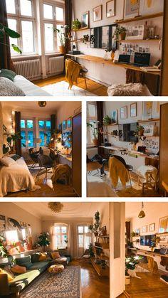 Cozy Apartment, Apartment Interior, Apartment Living, Interior Office, Bedroom Decor For Couples, Boho Bedroom Decor, Gothic Bedroom, Boho Living Room, Bohemian Living