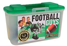 Kaskey Kids Football Guys Green vs Black  Inspires Imagination with OpenEnded Play  Includes 2 Full Teams and More  For Ages 3 and Up ** Find out more about the great product at the image link.Note:It is affiliate link to Amazon.