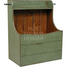 Shaker Firewood Box - If I can't talk Matt into a floor to ceiling wood storage I like this design, only I think I would want antiqued Navy paint