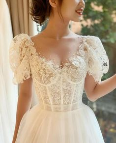 Dream Wedding Dresses, Bridal Dresses, Vintage Bride Dress, Disney Wedding Gowns, Renaissance Wedding Dresses, Vintage Ball Gowns, Vintage Style Wedding Dresses, Garden Wedding Dresses, Luxury Wedding Dress