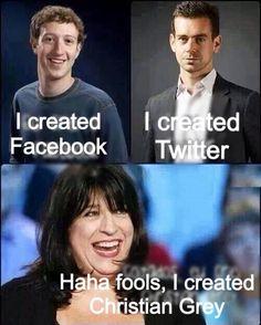Mark Zuckerberg and the Twitter guy vs EL James = No Contest