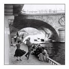 Dancing under a bridge in Paris