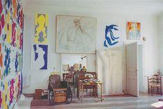 phoebebishopwright:  Henri Matisse's studio, Hotel Regina, Nice, ca. 1952.
