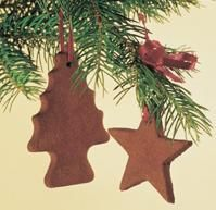 I made these a few years back on HGTVs Craft Lab... ornaments made from cinnamon and applesauce. They smell AMAZING, and last for years. Great kid's craft.