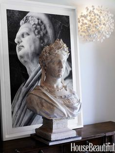 is it weird that I'm totally digging the bust? a little antiquity can be so fun! (and beautiful) even if it is reproduction :)