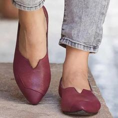 Women Artificial Leather Split Joint Flat Shoes Artificial Leather 7f6abd3fcf1f