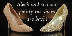 We love pointed-toe shoes (with a bit of sparkle) for weddings!     Left shoe is Super Hot by #SteveMadden (http://www.myglassslipper.com/wedding-shoes/steve-madden/super-hot-7911)     Right shoe is Kaydena by #IvankaTrump (http://www.myglassslipper.com/wedding-shoes/ivanka-trump/kaydena-7964)