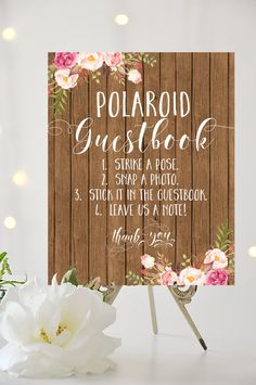 Polaroid Guestbook Sign  8 x 10  DIY by CharmingEndeavours on Etsy