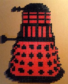 Dr Doctor Who Supreme Red Dalek Perler.  Your choice of Necklace, Keychain, Pin or Magnet. $22.00, via Etsy.