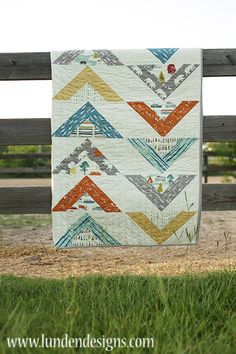 Koa Avenue Quilt Kit Featuring Feather River