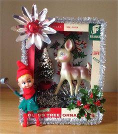 Find Here 41 Stunning Vintage Christmas Decorating Ideas Vintage Christmas Crafts, Retro Christmas Decorations, Vintage Ornaments, Vintage Holiday, Holiday Crafts, Vintage Christmas Decorating, Christmas Scenes, Christmas Love, Christmas Holidays
