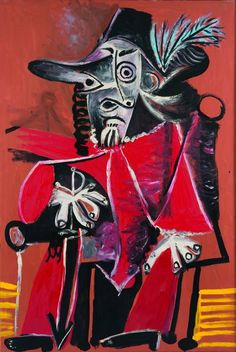 Pablo Picasso (1881-1973) Sitting Musketeer with Sword, 1969
