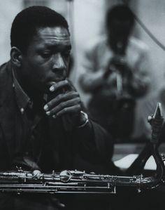 John Coltrane, Columbia Recording Studios, New York City, 1958. Photo by Don Hunstein.