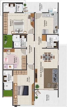 10 Marla House Plan, Simple House Plans, Family House Plans, Dream House Plans, House Floor Plans, Sims 4 House Design, Small House Design, House Layout Plans, House Layouts
