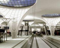 Light Architecture, Futuristic Architecture, Interior Architecture, Tree Structure, Bus Terminal, U Bahn, Bridge Design, Parametric Design, Metro Station