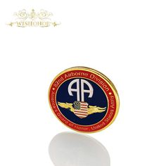 Hot Selling Products For United States Army Coin America's Guard Of Honor, 82nd Air Borne Division 24k Gold Plated Coin 40*3mm