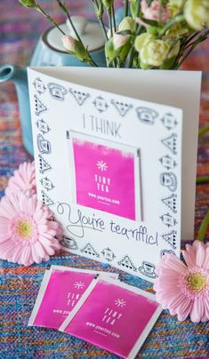 DIY card & box of tea | Thank you card / gift idea